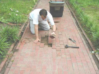 Brick Sidewalk Repair